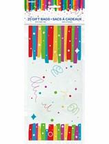 Rainbow Ribbons Cello Bags 20pk