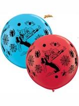Spiderman 3ft Latex Balloons 2pk
