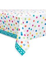 Confetti Cake Plastic Tablecover