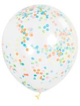 """12"""" Multi Coloured Latex Confetti Balloons 6pk"""