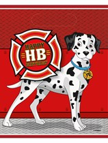 Birthday Fire Truck Party Bags 8pk