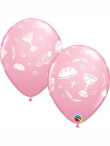 "Pink Communion Elements 11"" Latex Balloons 25pk"