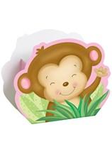 Pink Baby Monkey Favour Boxes 8pk