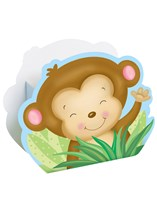 Blue Baby Monkey Favour Boxes 8pk