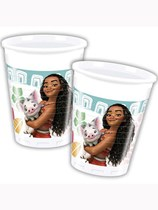 Disney Moana Plastic Cups 8pk