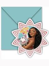Disney Moana Invitations & Envelopes 6pk