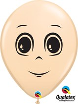 "Blush 16"" Masculine Face Latex Balloons 50pk"