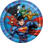"""Justice League 7"""" Paper Plates 8pk"""