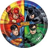 """Justice League 9"""" Paper Plates 8pk"""