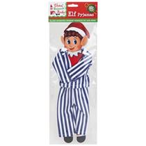 Striped Pyjamas for Elf Dress Up - Blue