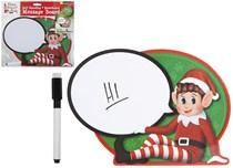 Christmas Elf Speech Bubble Wipe Clean Sign