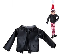Christmas Elf Faux Leather Jacket With Zip