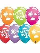 "Get Well Sunshine 11"" Latex Balloons 25pk"