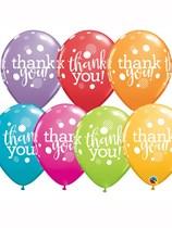 "Thank You Dots 11"" Festive Assorted Latex Balloons 25pk"
