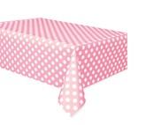 Lovely Light Pink Dots Rectangular Plastic Tablecover
