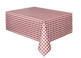 "Red Gingham Rectangular Plastic Tablecover 54""x 108"""