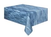 "Ocean Waves Rectangular Plastic Tablecover 54""x 108"""