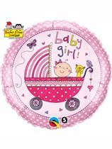 "Rachel Ellen Baby Girl Stroller 18"" Foil Balloon"