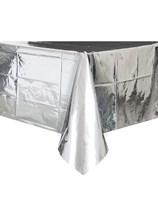 Foil Silver Plastic Tablecover