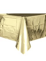 Foil Gold Plastic Tablecover