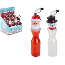 Snowman & Santa Christmas Drinking Bottles 16pk