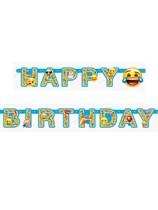 Emoji Party Happy Birthday Banner