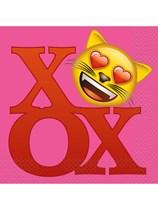 Valentine's Day Emoji Luncheon Napkins 16pk