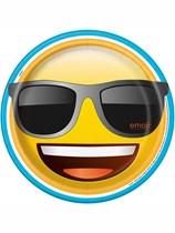 "Emoji Party Sunglasses 9"" Paper Plates 8pk"