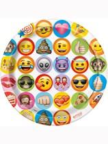 "Emoji Party 9"" Paper Plates 8pk"