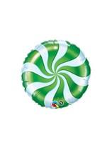 "Green Candy Swirl 9"" Foil Balloon"