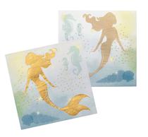 Mermaid Napkins With Foil Detail 12pk
