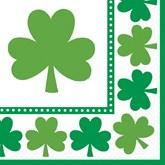 St. Patrick's Day Shamrock Paper Napkins 16pk