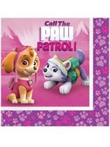 Paw Patrol Pink Luncheon Napkins 16pk