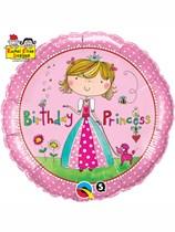 "Rachel Ellen Birthday Princess 18"" Foil Balloon"