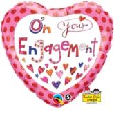 "Rachel Ellen On Your Engagement 18"" Foil Balloon"