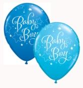 "Assorted Blue Baby Boy 11"" Latex Balloons 25pk"