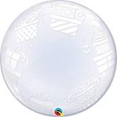 "Wrapped Presents 24"" Deco Bubble Balloon"
