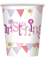 Pink Christening 9oz Paper Cups