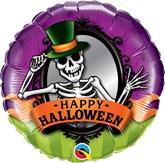 "Halloween Skeleton Mirror 18"" Foil Balloon"