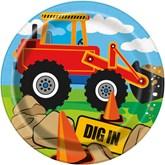 "Construction Trucks 7"" Paper Plates 8pk"