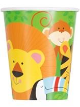 Jungle Animal 9oz Paper Cups 8pk