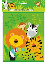 Jungle Animal Party Bags 8pk