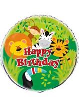 "Jungle Animal Happy Birthday 18"" Foil Balloon"