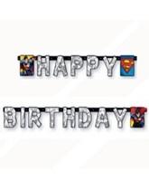 Superman Happy Birthday Banner