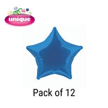 "Royal Blue 20"" Star Shaped Foil Balloons 12pk"