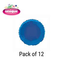 "Royal Blue 18"" Round Foil Balloons 12pk"