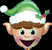 Christmas Elf Head Foil Balloon