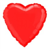 """Red Heart Shaped 18"""" Foil Balloon"""