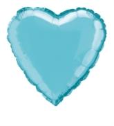 "Single 18"" Baby Blue Heart Shaped Foil Balloon"