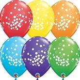 Confetti Dots Assorted Colour Latex Balloons 25pk
